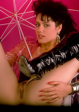 Jeanna Fine plays a leading role in a retro photo session