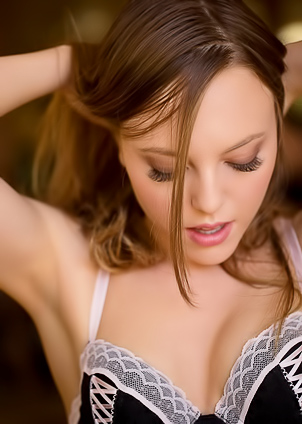 Brown hair girl Aubrey Star got truly sexy titties and cunts