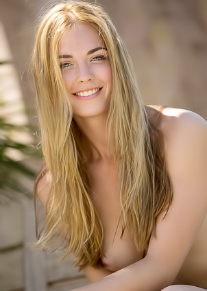 Slim Bailey Rayne spends a hot summer day outdoors